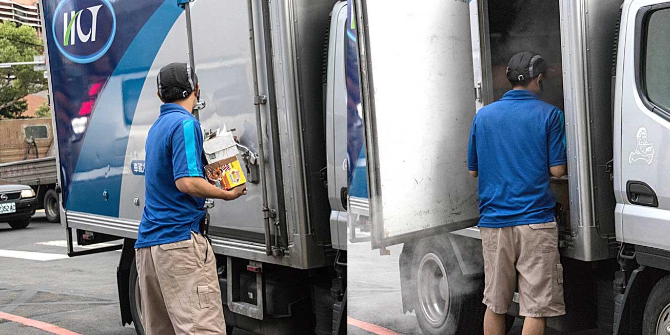 記者現場目擊司機將冷藏和冷凍貨品混放